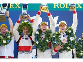 Second overall on the Le Mans 24 Hours podium and LMP2 class winners