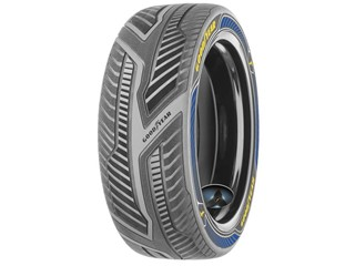 Goodyear showcases concept tire with advanced sensor technology for early generation autonomous vehicles