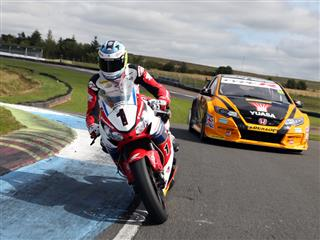 Car v Bike :  Which Is Fastest?   Touring Car and Isle of Man Winners Go Head to Head