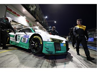 Land Motorsport Audi made a last minute switch to Dunlop