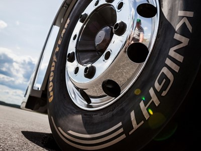 The Goodyear 'The Iron Knight' truck tires are the fastest in the world