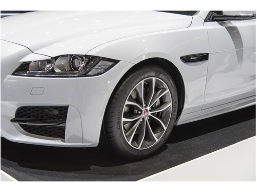 goodyear newsroom new goodyear eagle f1 asymmetric 3 makes appearance on jaguar xf four. Black Bedroom Furniture Sets. Home Design Ideas