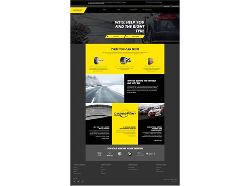 Dunlop Tire Finder tool