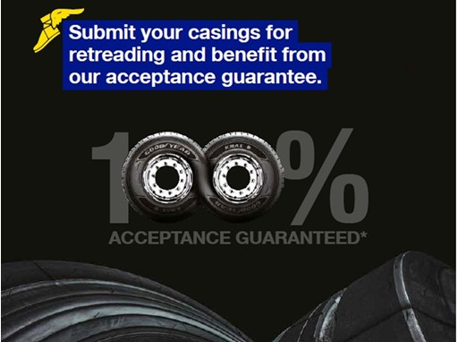 New Goodyear Retreading Guarantee helps saving Money and the Environment