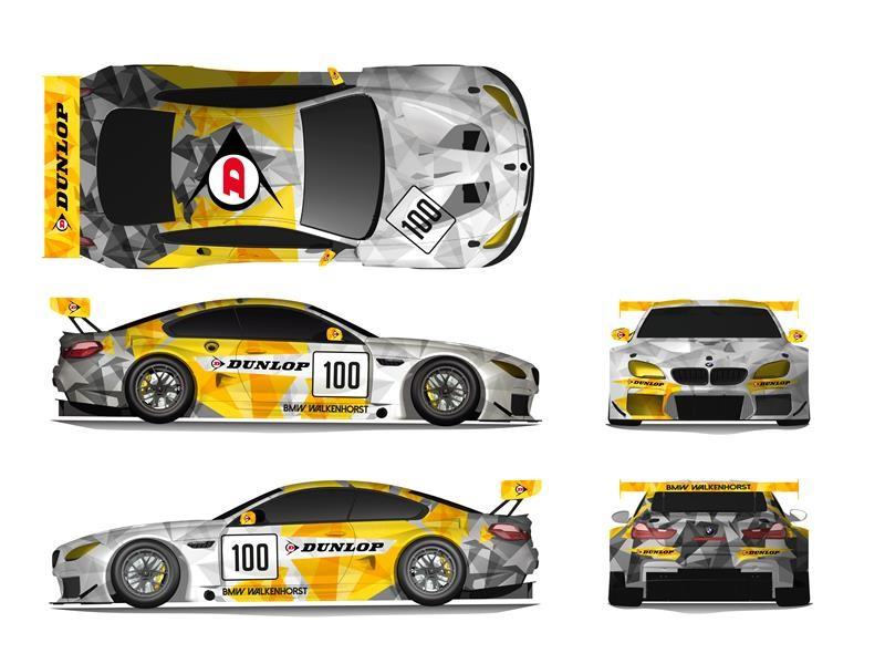 Latest Dunlop BMW M6 GT3 Art Car - Chosen by <b>motorsport</b> fans