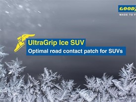 Goodyear UltraGrip Ice SUV. Video Animation: Optimal Road Contact Patch