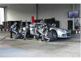 Pit crew team trains