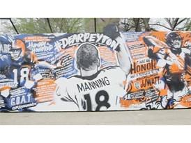 Peyton Manning Mural Image