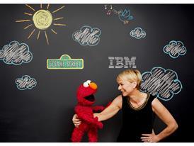 IBM's Harriet Green and Sesame Street's Elmo