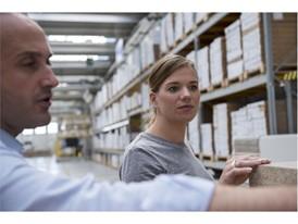 Marco Bergamo, head of development at 3B and Anna Granath, product developer at IKEA