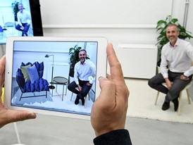 CEO Torbjörn Lööf in augmented reality app