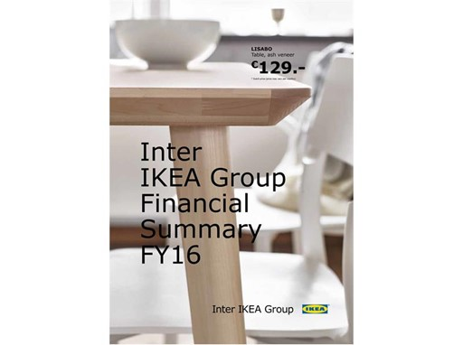 Inter IKEA Group Financial Summary FY16