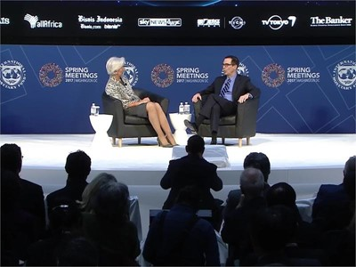 U.S. Treasury Secretary Steve Mnuchin and IMF MD Christine Lagarde Discuss Economic Cooperation