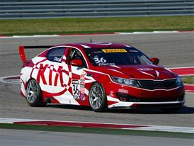 Kia Racing starts Pirelli World Challenge title defense atop podium in season opener
