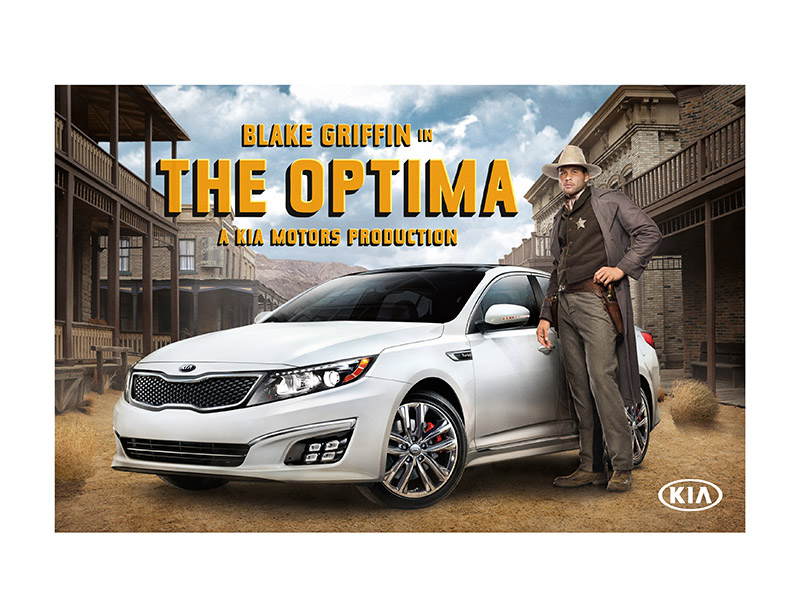 NBA All-Star Blake Griffin is back in a starring role in a series of new television commercials for Kia's Optima midsize