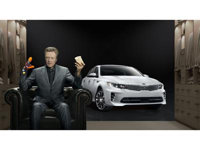 "Christopher Walken adds ""Pizzazz"" to Kia Motors' Super Bowl commercial for the All-New Optima Midsize Sedan"