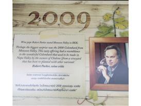 Die Tafel für Weinkritiker Robert Parker, den das Monsun Valley besucht hatte.