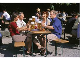 Mood in the beer garden