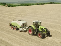 Agricultural machines in use
