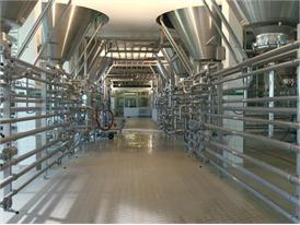 Moderne Brauerei Lagerung und Reifung