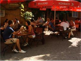 Beer garden at Augsburg