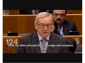 Rede Jean-Claude Juncker, Präsident der Europäischen Kommission