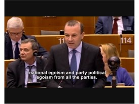 Rede Manfred Weber, Vorsitzender der Europäischen Volkspartei