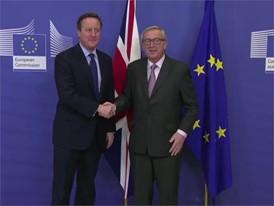 Stock Shots der Ankunft von David Cameron beim Europäischen Rat in Brüssel am 29. Januar 2016