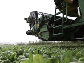 Spinaternte - Erntemaschine einsteigen und Eingaben ins System