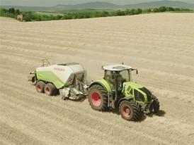 CLAAS QUADRANT 3200: Grain harvesting