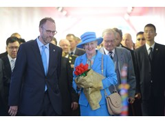 Her Majesty The Queen of Denmark attended the celebration of new LEGO factory in China