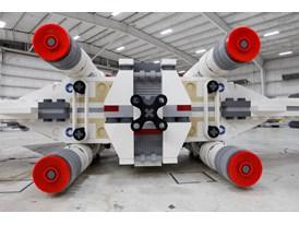 LEGO SW Model in Hangar Rear View