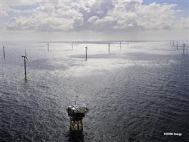 Borkum Riffgrund 1 with the offshore substation