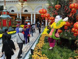 Bellagio Conservatory & Botanical Garden interior