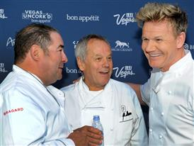 Emeril Lasasse, Wolfgang Puck and Gordon Ramsay