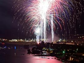 Laughlin's Rockets Over the River