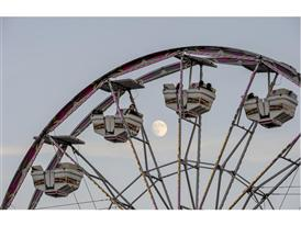 Super moon and Ferris wheel