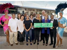 Sammy Davis Jr. family members and dignitaries