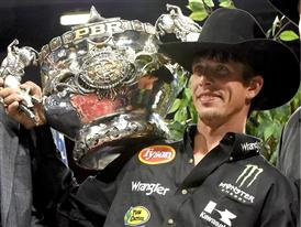 JB Mauney with trophy