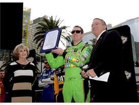 Kyle Busch with Las Vegas officials