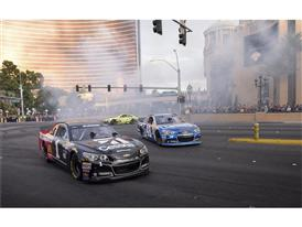 NASCAR drivers on the Strip
