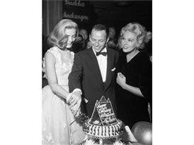 Bacall, Sinatra and Novack 1956