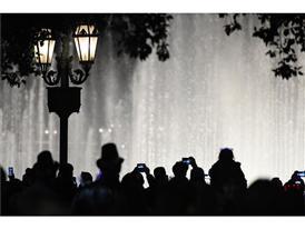 NYE Bellagio fountains