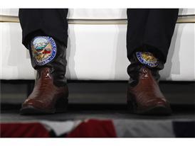Nevada Gov. Brian Sandoval's boots