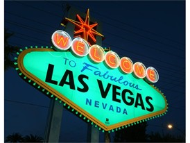 Fabulous Las Vegas sign goes green