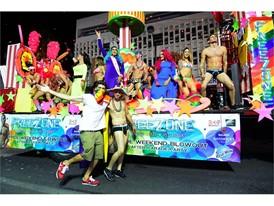 Pride Night Parade float