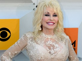 Country Legend Dolly Parton Walks The Red Carpet at the ACM Awards in Las Vegas