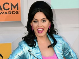 Music Megastar Katy Perry Walks the Red Carpet at the MGM Grand Garden Arena in Las Vegas
