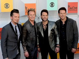 Country Band Parmalee Walk the Red Carpet in Las Vegas