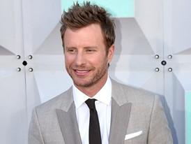 Dierks Bentley, Country Music Star, Walks the Red Carpet in Las Vegas for the ACM Awards